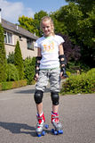 Girl on roller skates Royalty Free Stock Images
