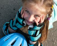 Girl on roller skates Stock Image