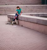 Girl in roller skates Royalty Free Stock Image