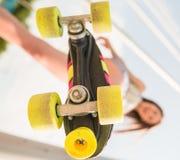 Girl on roller skates Royalty Free Stock Photo