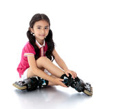 Girl on roller skates Stock Photos