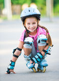 Girl on roller skates Stock Photos