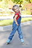 Girl Roller Skating Portrait Royalty Free Stock Photography