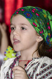 Girl in Romanian costume Stock Photo