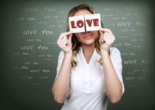 Girl with romantic thoughts Stock Image