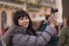 Girl in Rome Royalty Free Stock Photography