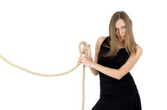 Girl with the rope Royalty Free Stock Photography