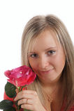 Girl with rose Royalty Free Stock Image