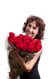 Girl with rose Royalty Free Stock Photography