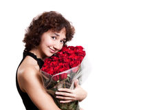 Girl with rose Stock Photo