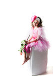 The girl with a rose Royalty Free Stock Images