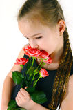 Girl with a rose Royalty Free Stock Photos