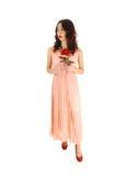 Girl with rose. Stock Photos