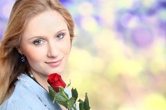 Girl with rose Royalty Free Stock Photos