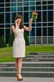 Girl rose call Stock Photography