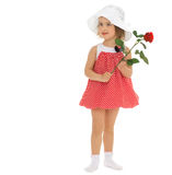 Girl with rose flower Royalty Free Stock Photos