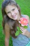 Girl with rose Stock Photos