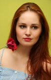 Girl with the rose Royalty Free Stock Photo