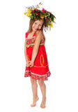 The girl rose on tiptoes Stock Photos