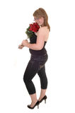 Girl with roses. Royalty Free Stock Images