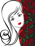 Girl with Roses Royalty Free Stock Photos