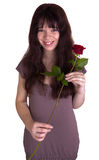 The girl with roses Royalty Free Stock Photo