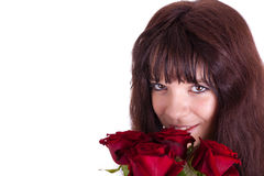 The girl with roses Royalty Free Stock Image