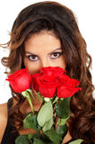 Girl with roses Stock Image