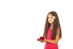 Girl with roses petals Stock Photos