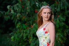 Girl with rowan Royalty Free Stock Photos