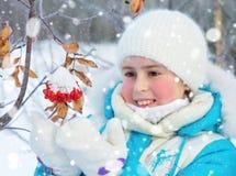 Girl with rowan Royalty Free Stock Photo