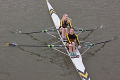 Girl Rowers Racing Royalty Free Stock Image
