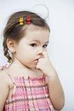 Girl rubs your nose Stock Photos