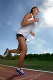 Girl run stock photo