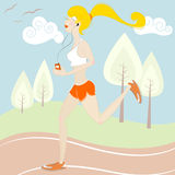 Girl Running Stock Photos