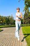 Girl running Stock Images