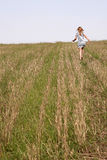 Girl running Royalty Free Stock Photo
