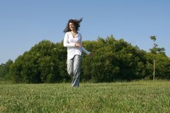 Girl running Royalty Free Stock Image