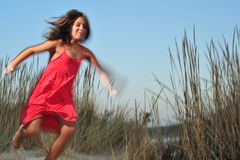 Girl running Stock Photos