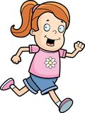 Girl Running. A cartoon girl smiling and running Stock Photography