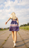 Girl running away Royalty Free Stock Photos
