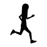 Girl running design Stock Photography