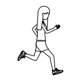 Girl running design Stock Photo