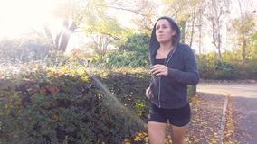 Girl Running For Fitness stock video