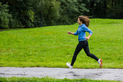 Girl running Royalty Free Stock Images
