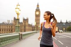 Girl running in London Stock Images