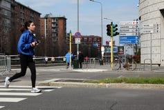 Milano City Marathon Royalty Free Stock Photography
