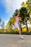 Girl running outdoor Royalty Free Stock Photo