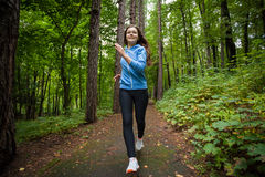 Girl running outdoor Stock Photography