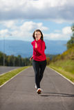 Girl running outdoor Royalty Free Stock Photos